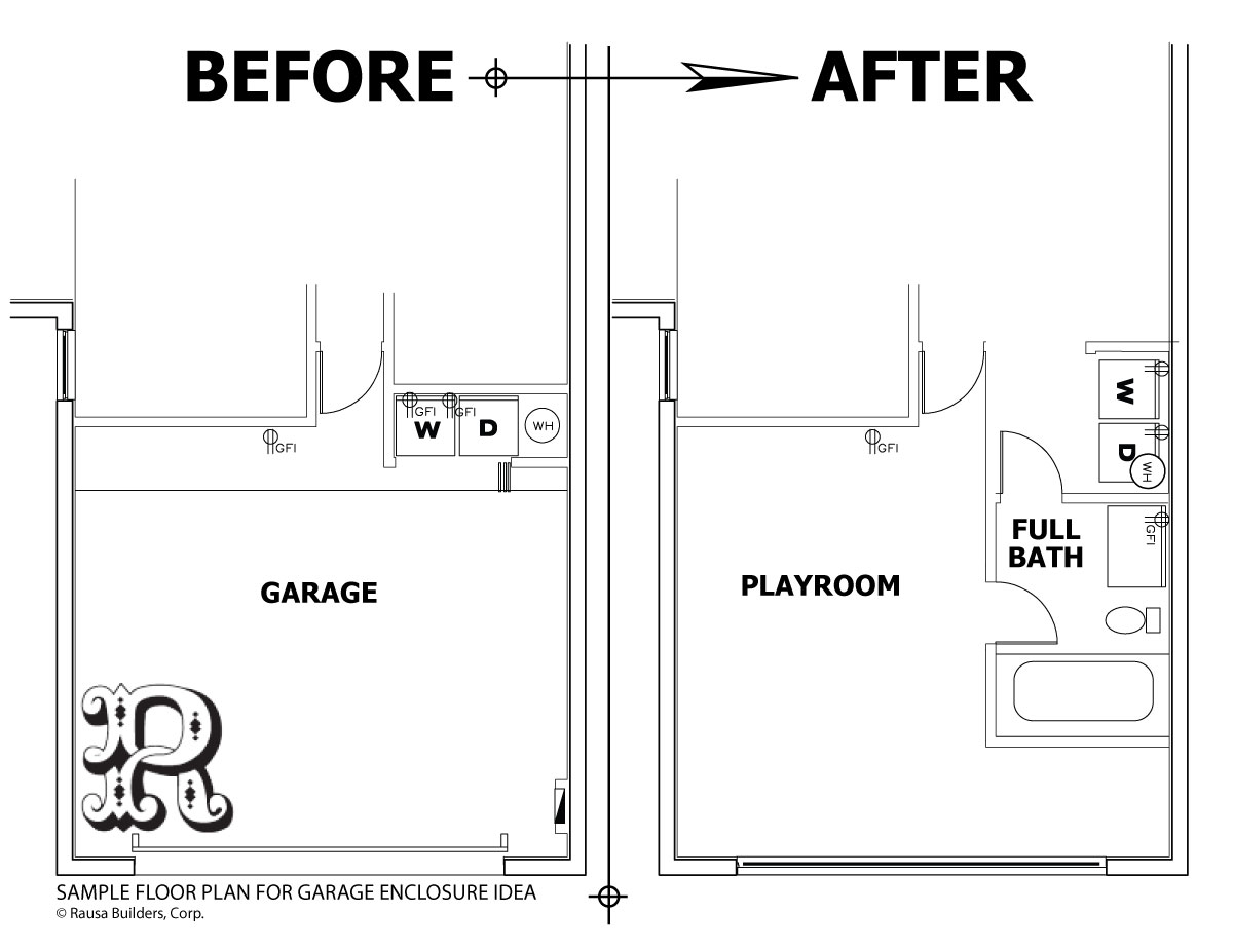 Free garage conversion plans floor plans for Garage floor plans